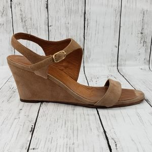 Chie Mihara ANATOUR wedge suede ankle strap sandal